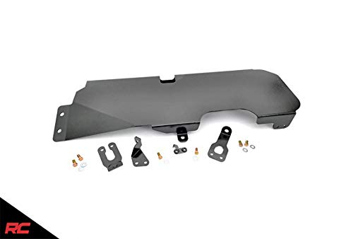 Rough Country Gas Tank Skid Plate Compatible w/ 2007-2018 Jeep Wrangler JK 2DR Armor 794 (Jeep Wrangler Gas Tank Skid Plate Installation)