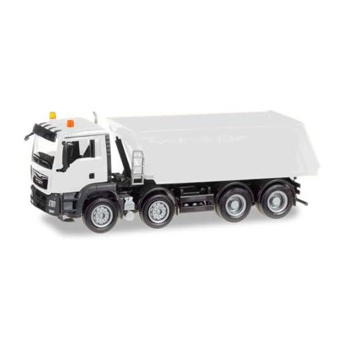 013024 Herpa MiniKit: MAN TGS M Euro 6 Truck-mounted tipper, 4-axle, White. 1:87