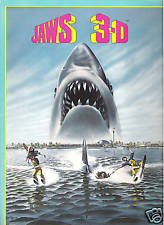 Jaws 3D 1983 original movie program - NOT DVD