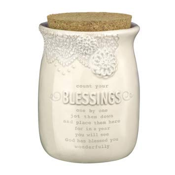 Everyday Blessing Jar By Grasslands Road Cork Top Lace Count Your Blessings