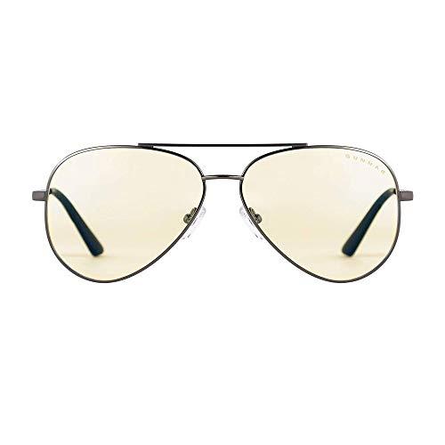 Gaming Glasses   Blue Light Blocking Glasses   Maverick/Gunmetal by Gunnar    35% Blue Light Protection, 100% UV Light, Anti-Reflective To Protect & Reduce Eye Strain & Dryness (Maverick Glass)