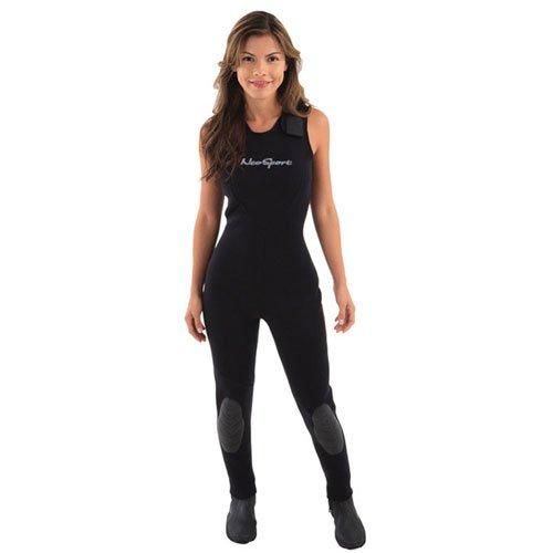 NeoSport Wetsuits Women's Premium Neoprene 7mm Jane,All Black,4