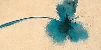 Forrester Ethereal Blue I Flower Floral Pop Art Poster Print 12 X 24 Inches