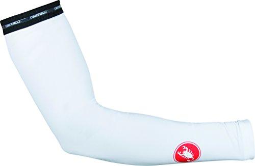 Castelli UPF 50+ Light Arm Sleeves White, - Warmer Castelli