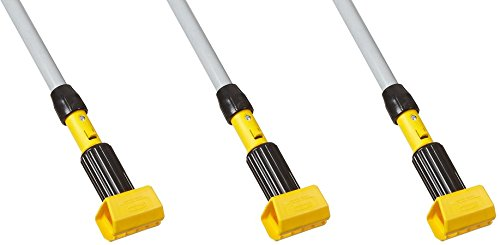 Rubbermaid Commercial FGH245000000 Gripper Clamp-Style Wet Mop, Fiberglass Handle, 54-inch (3 PACK) by Rubbermaid Commercial Products