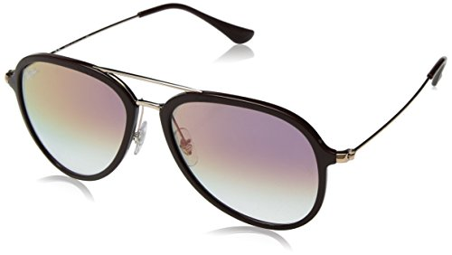 Ray-Ban RB4298 Aviator Sunglasses, Brown/Violet Gradient, 57 ()