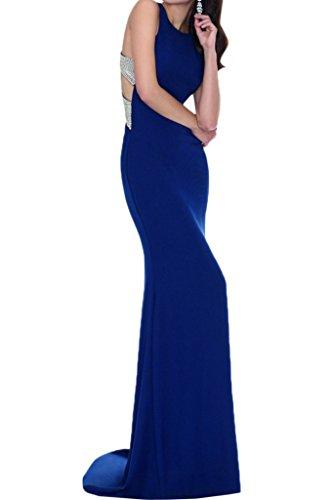 Crossed Elegant Blue Dress Avril Halter Evening Formal Spandex Royal Gown Back Sheath 5wIqnqP7