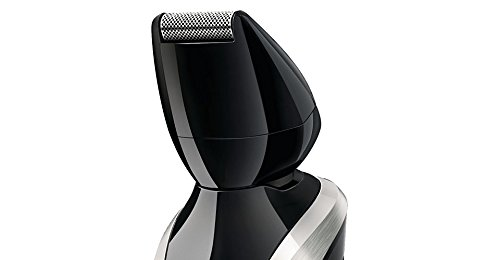 Philips Norelco WASHABLE Full Body Groomer with Exclusive ALL NEW Turbo Boost Feature & 8 Attachments Full-Size Metal Guard Trimmer, Bodygroom Foil Shaver, and Body Trimmer Comb, Precision Trimmer, with Hair Clipping Comb, Mini Foil Shaver, and Beard and  by Philips Norelco (Image #4)