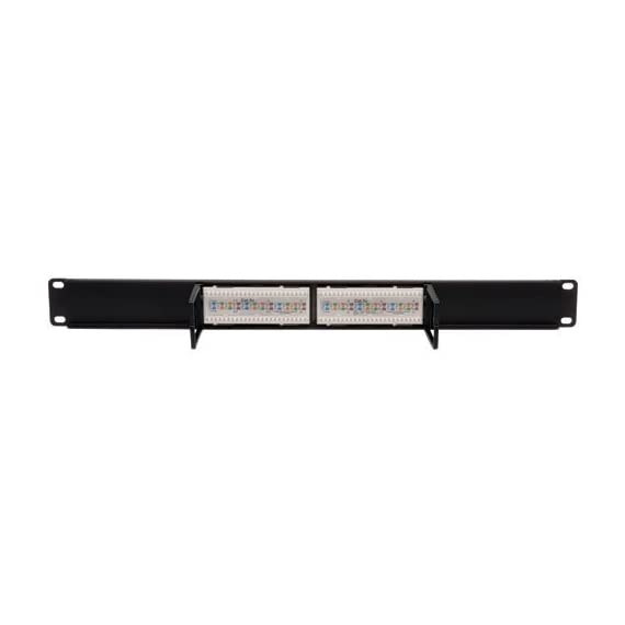 "Tripp Lite 12-Port 1U Rackmount Cat5e 110 Patch Panel 568B, RJ45 Ethernet(N052-012) 4 12-Port Cat5e Patch Panel 568B, 1U 19 in. rackmount ready, 1U Height ( 1.75"" ) 110 type punchdown termination"