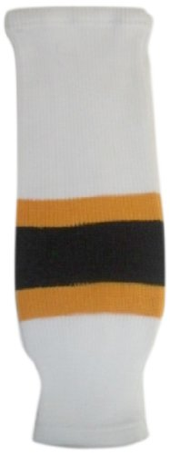 fan products of DoGree Hockey Boston Bruins Knit Hockey Socks, White/Gold/Black, Adult/32-Inch