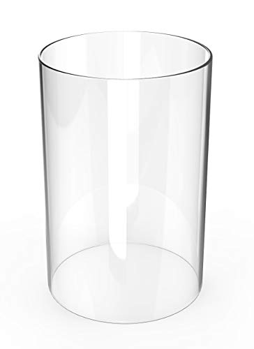 "Amayan Hurricane Candle Holders - Lamp Shades Replacement Open Ended Glass Vase Cylinder Open 4"" Height 13"" (Multiple Specifications)"