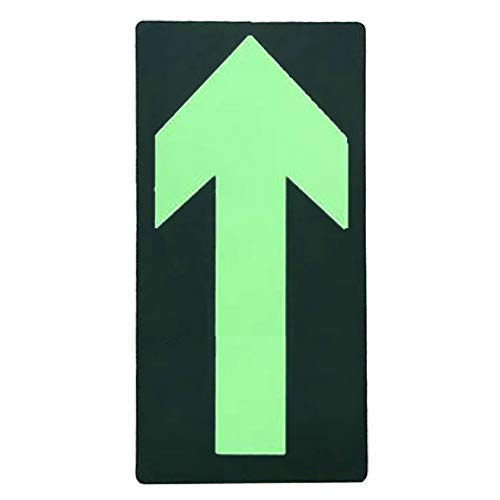 Aspire (Pack of 6) Glow in The Dark Safety Sign, Luminous Arrow Sign Foot Print Sign, Fluorescent Exit Sign for Floor Stairs-Straight-11.8