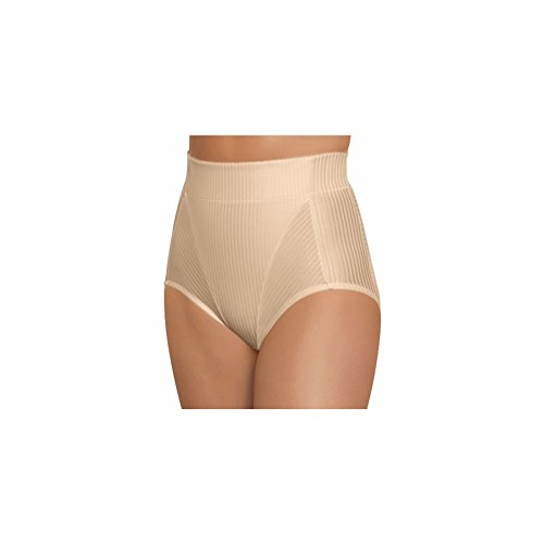 Glamorise Women's Isometric High-Waist Brief Firm Control Shaper 30 Large Cafe