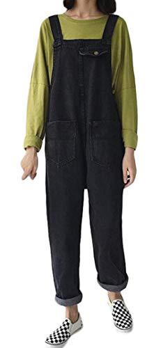 差別カプセル検査ZhongJue(ジュージェン) サロペット レディース ジーンズ ゆったり オーバーオール 韓国ファッション オールインワンデニムパンツ 9分丈 ワイドパンツ