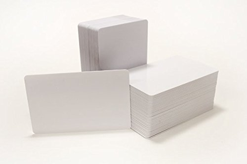 250 CR80 30Mil Blank White PVC Plastic Credit, Gift, Photo ID (Blank White Pvc Cards)