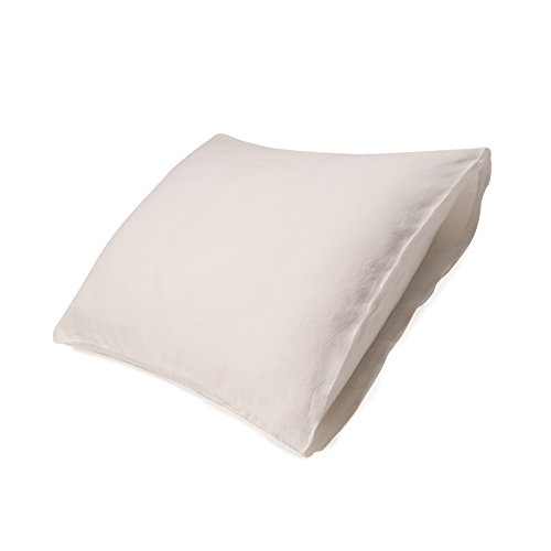 European Made Pure Linen Pillowcases. 100% Fine Organic and Natural Flax (King, Antique White) Antique White Linen Sheet