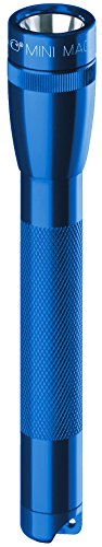 Maglite Mini Incandescent 2-Cell AA Flashlight with Holster, Blue