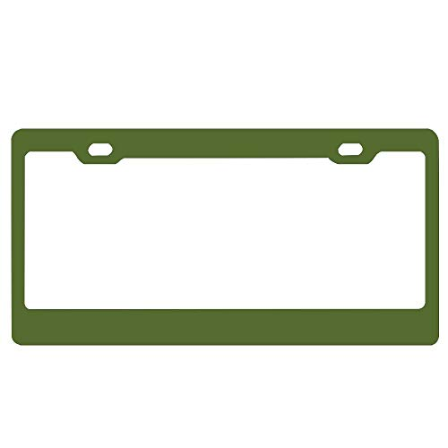 ASUIframeNJK Dark Olive Green Personalized License Plate Frame Aluminum Decorative Car Plate Frame Outdoors Auto License Plate Frame