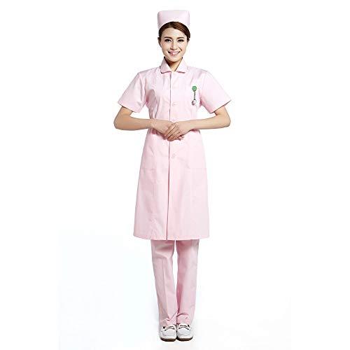 ESENHUANG Pink Lab Coat Mujeres Ropa Médica Uniformes De Enfermera Ropa Dental Uniformes Medico: Amazon.es: Ropa y accesorios