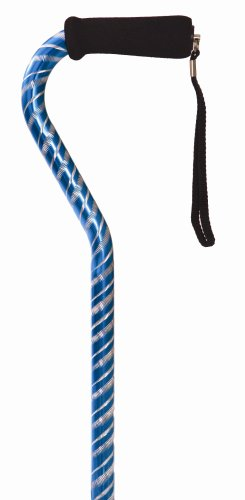 Essential Medical Supply Laser Cut Offset Cane, Blue