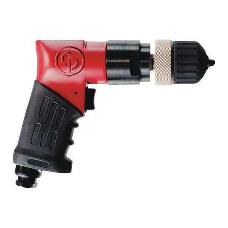 - Chicago Pneumatic CP9792 Heavy Duty 3/8-Inch Reversible Drill, Keyless Chuck
