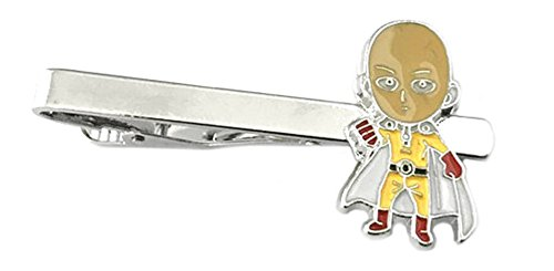 Anime Mangas - One Punch Man Chibi - Tiebar Tie Clasp Wedding Superhero Logo w/Gift Box ()