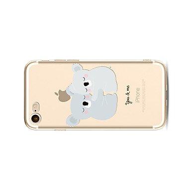 Fundas y estuches para teléfonos móviles, Caso para el iphone 7 más 7 cubra la caja transparente de la contraportada del patrón kouala suave de la historieta para el iphone de la ( Modelos Compatibles IPhone X