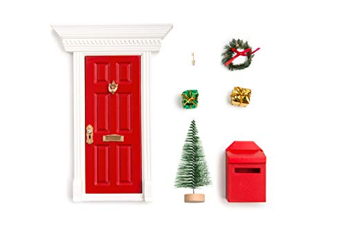 Cheap Opening Red Roses Magic Fairy Door/Elf Door for Christmas/Christmas Door Fairy or elf Door in Festive Red