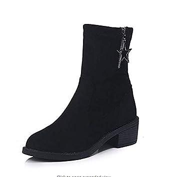 a850963fe4393 Qiusa High Heels Stovepipe Stretch Stiefel Socken Stiefel Damen dick ...