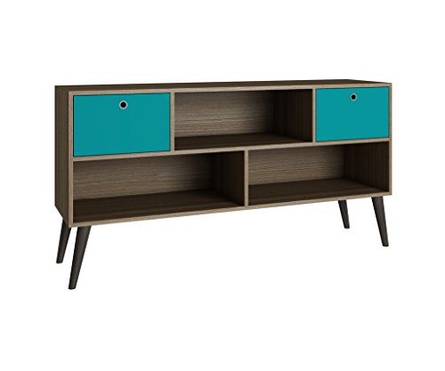 - Manhattan Comforts 4AMC134-MC Uppsala TV Stand, Oak and Aqua