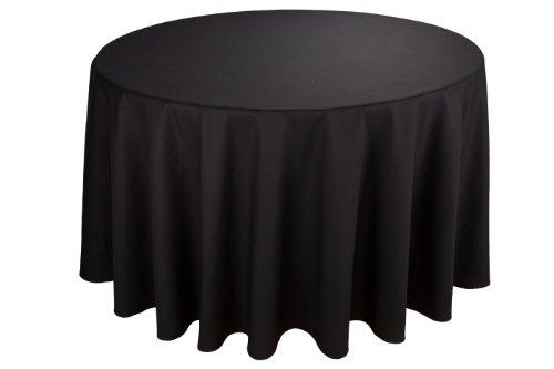 RIEGEL Permalux Cottonblend 120-Inch Round Tablecloth, Black