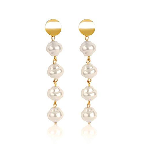 Kofun Earrings, Natural Freshwater Pearl Drop Dangle Earrings Women Gold Tone Fashion Jewelry 5# (Freshwater Pearl Best)