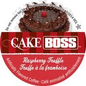 Cake Truffle Chocolate - Cake Boss Coffee - Raspberry Truffle - 48 Single Serve K Cups for Keurig Brewers