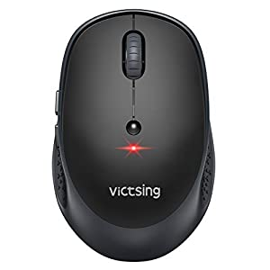 VicTsing Keyboard and Mouse [Whisper Quiet], 2.4GHz Wireless Keyboard Mouse Combo, Computer Keyboard and Wireless Mouse…