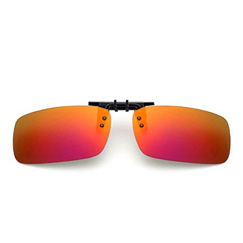 Clip On Sunglasses Red Polarized Flip Up Lenses UV400 Flip on Sunglasses For Men Wowan - Polarized Wholesale Fishing Sunglasses