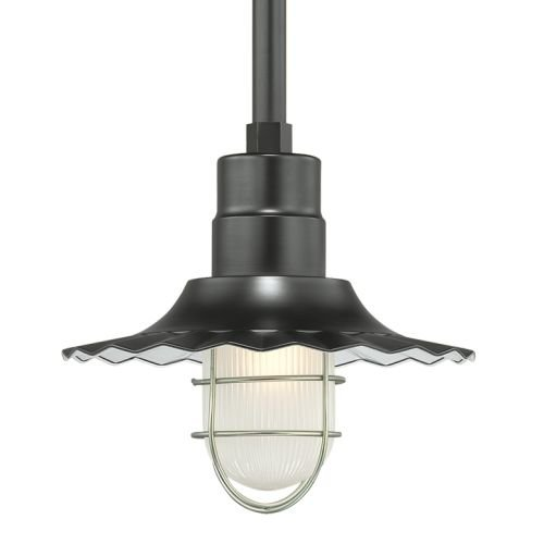 Millennium Lighting RRWS12-SB Stem Hung Radial Wave Shade