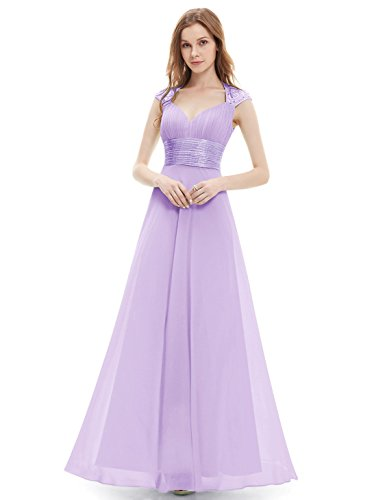 Ever-Pretty Womens Empire Waist Formal Long Military Ball Gown 12 US Light Purple by Ever-Pretty
