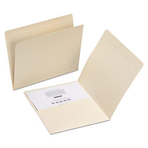 Smead 10315 File Folders with Media Pocket Straight Top Tab Letter Manila 50//Box