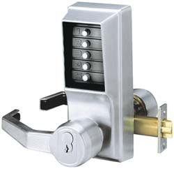 Push Button Lock, Entry, Key Override by Kaba