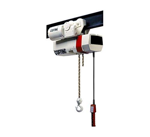 Ec Hoists Electric Chain - Coffing EC Electric Chain Hoist, Capacity 1/2 Ton, Lift 20 ft, 9 fpm, Motorized Trolley, Part No ECMT1009-20