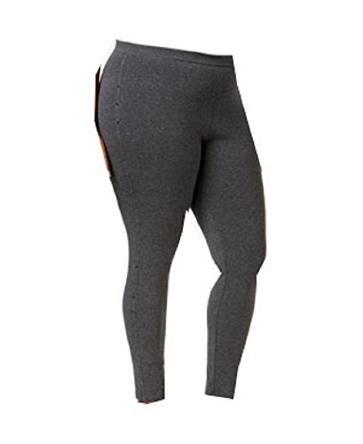 Style & Co. Plus Size Rhinestone Embellished Leggings, Charcoal, 3X