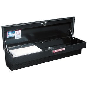 Weather Guard 174501 4.1Cubic Feet Lo-Side Black Aluminum Tool Box (Best Rated Tool Boxes)