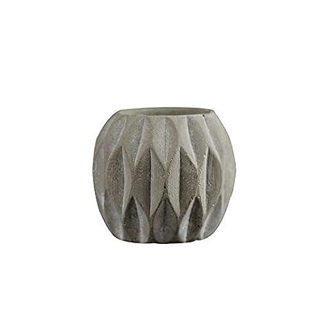Molde de silicona para jarrón de hormigón, redondo, con diseño de rayas, para decoración de escritorio: Amazon.es: Juguetes y juegos