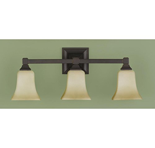Feiss VS12403-ORB 3-Bulb Vanity Light Fixture, Oil Rubbed Bronze Finish