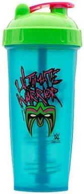 Perfect Shaker Ultimate Warrior Hero Shaker - Coctelera de proteínas (800 ml), color verde y rosa