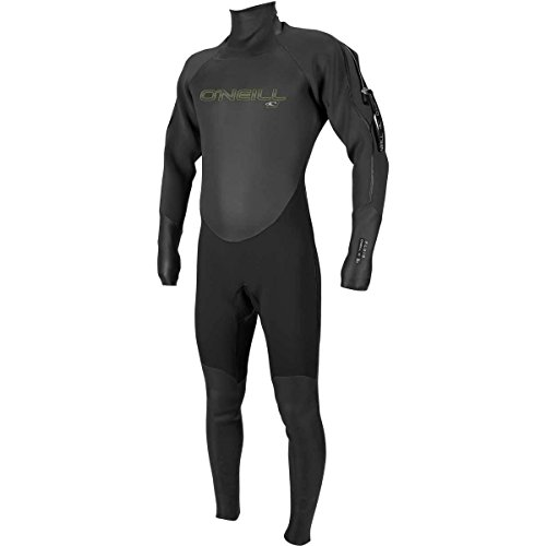 O'Neill Men's Fluid 3mm Neoprene Drysuit, Black/Graphite, Large