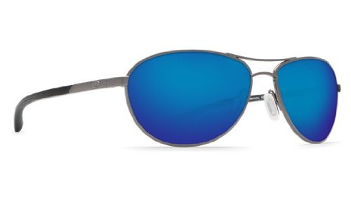 Costa Del Mar KC Women's Polarized Sunglasses, Gunmetal/Blue Mirror 400G, - Kc Sunglasses Costa