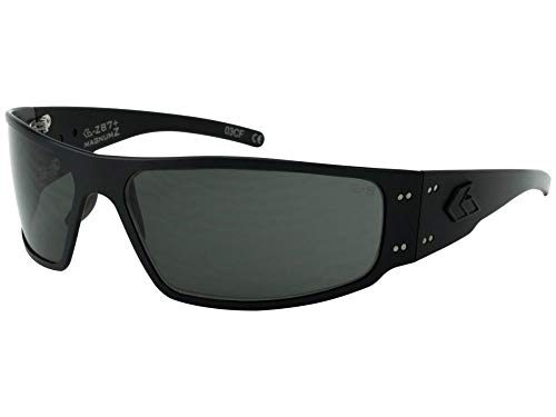 Gatorz Magnum Z Aluminum Frame, ANSI Z87 Safety Sunglasses-Blackout/Smoked ()