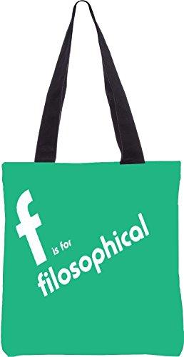 Snoogg Filosophical 2899 13,5 x 15 Zoll-Shopping-Dienstprogramm-Einkaufstasche aus Polyester-Segeltuch gemacht