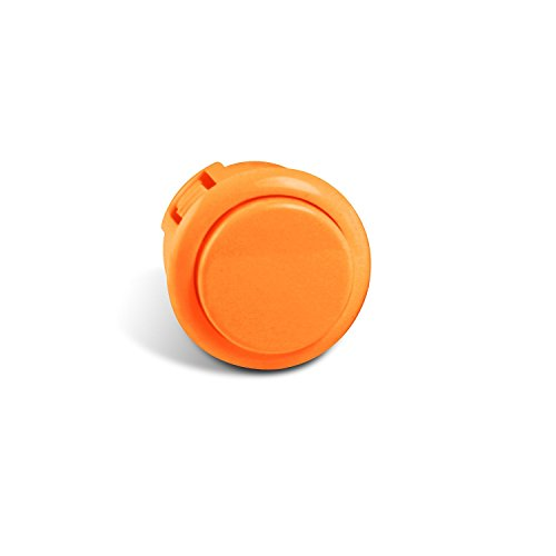 Sanwa OBSF-24 24mm Replacement Arcade Push Button for Mad Catz Fight Sticks - Orange 1pc